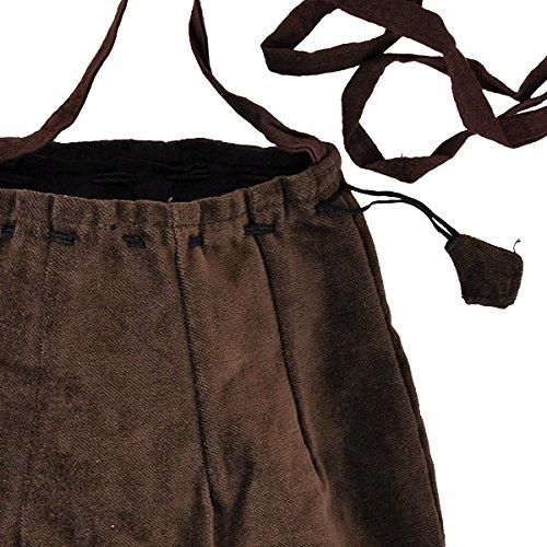 Schnürbare Mittelalter Tasche, braun, mit langem Schulterband - 2