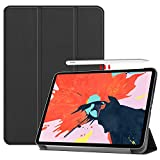 Gosento Coque iPad Pro 12.9 2018, iPad Pro 12.9 2018 Étui Housse, Étui avec Support Fonction et Veille/Réveil Automatique, pour iPad Pro 12.9 2018 Noir