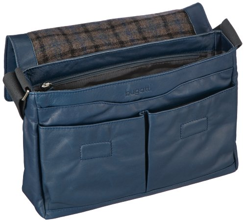 Bugatti Bags  Borsa Messenger, 7 L, Nero blu