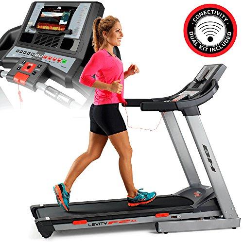 BH Fitness Levity F2Dual 450x 1350mm 18km/h Treadmill–Treadmills (135kg, 18km/h, Calories, Distance, Heart Rate, Inclination, Speed, Time, Black, Grey, 0–12%, LCD)
