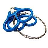 Bestmall Unisex-Adult Werkzeug Kette, blau/weiß, 58cm Wire, Appx 28mm Diameter Ring x 2