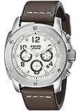Fossil Herren-Armbanduhr XL Chronograph Quarz Leder FS4929