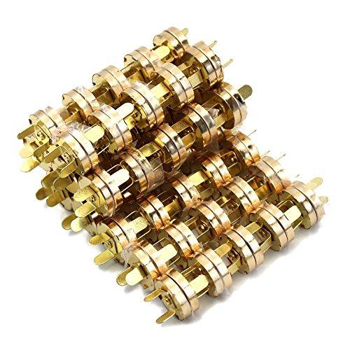 Lenhart 100Ensembles SE fixe à bouton magnétique 18mm–Idéal pour coudre, artisanat, sacs à main, sacs, vêtements, cuir (Or)