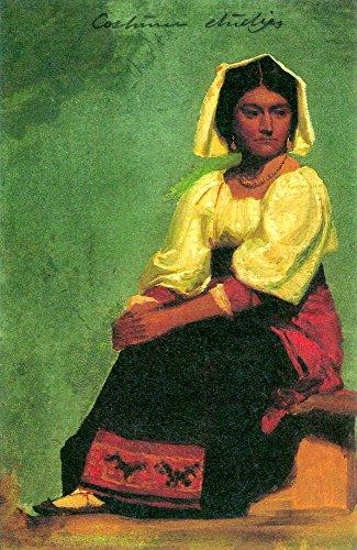 Kostüm Studie von einer sitzenden Frau by Bierstadt-Poster Print Online kaufen (76,2x 101,6cm) ()