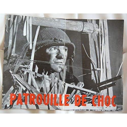 Dossier de presse de Patrouille de choc (1956) 31x24, 8 p – Film de Claude-Bernard Aubert avec Pontoizeau, Vilbesset, Bigorgne, Bouvette, Ha Minh Tai – Photos N&B – Bon état.