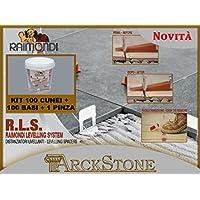 ARCKSTONE Kit Rivestimento: 100 basi 3-12 mm + 100 cunei + 1 pinza rivestimento Raimondi (Pinza Delle Mattonelle)