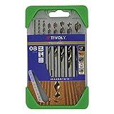 Tivoly 10864070001 Coffret de Forets Bois Technic Gradués, Gris, Bronze, Set de 8 Pièces