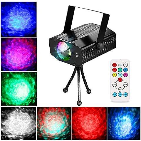 LED Lichteffekte, Ubegood Disco Licht Disco Lichteffekte Partylicht Discokugel led Discolichter 7 Farbe RGB Led Effekt Disco Lampe Partybeleuchtung für Disco, Weihnachten, Halloween - Schwarz
