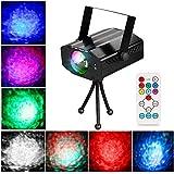Ubegood Éclairage de scène LED Lampe, Lampe de Scène (7 types de mode de lumière, noir)