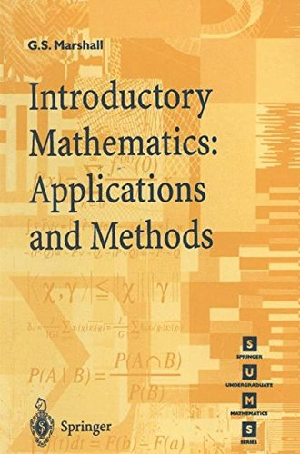 Introductory Mathematics: Applications and Methods (Springer Undergraduate Mathematics Series)