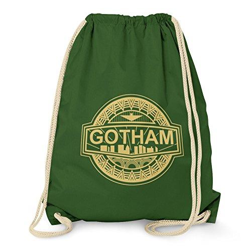 TEXLAB - Gotham Logo - Turnbeutel, (Kostüme Perücken Dunkelgrün)