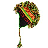 Search : MOHAWK PUNK HAT WOOL KNIT FLEECE LINED EARFLAP BEANIE RASTA Colours