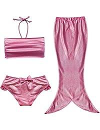 Fille Maillot de Bain Sirène - LATH.PIN 3 Pièce Maillot de Bain Sirène Déguisement pour Bébé Enfant Fille-Top+Short+Jupe