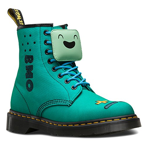 Dr.Martens Womens Adventure Time BMO 8 Eyelet Castel Textile Boots Turquoise