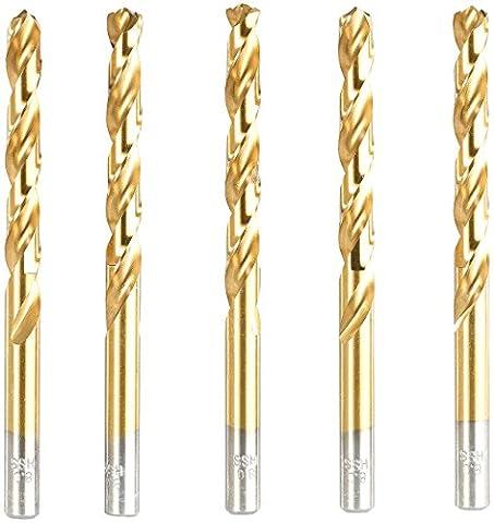 AGT HSS-Bohrer-Set für Metall, Titan-beschichtet, 8 mm, 5 Stück