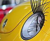 AoE Performance Universal Klebe-Wimpern für Autoscheinwerfer, 1 Paar, Vinyl, für jedes Automodell geeigent