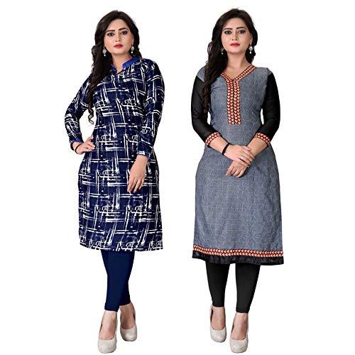 Pramukh Fashion Semi Stichead Pack of 2 Kurtis Comb(1023 1053)