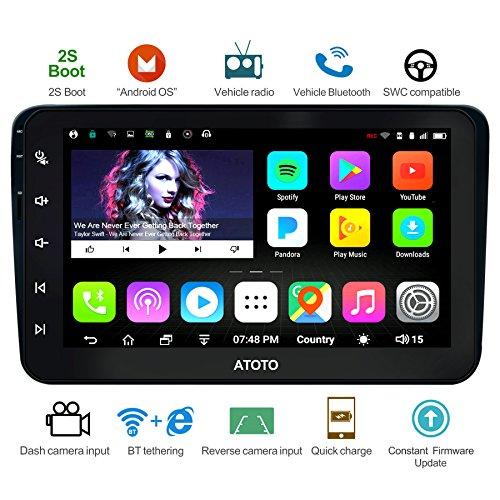 ATOTO A6 Android Auto Navigation Stereo w/Dual Bluetooth & Schnellladung - Für Volkswagen/VW - Premium A6YVW821P 2G + 32G Indash Unterhaltung Multimedia Radio, WiFi/BT Tethering Internet