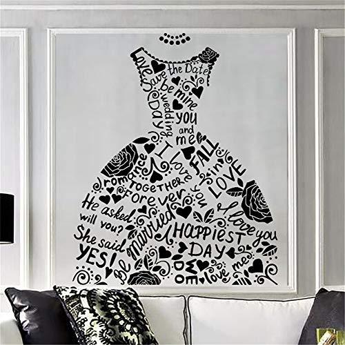 wandaufkleber 3d effekt Mode Hochzeitskleid Brautmode Hochzeit Stil Fenster Dekor Hause Schlafzimmer...