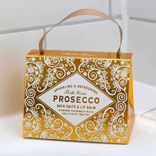 Prosecco Lip Balm and Bath Salts Handbag by Bath House -