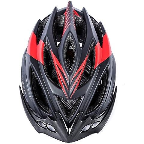 iGarden Premium calidad casco para bicicleta de flujo de aire especializados para carretera y montaña ciclismo–certificado de seguridad de casco de bicicleta para hombres adultos y mujeres–cómodo, ligero, transpirable, estable), color negro y