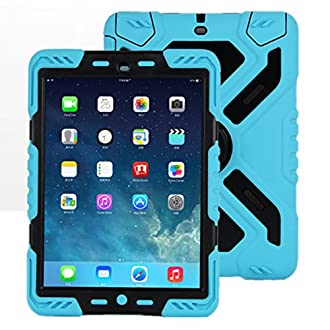 iPad 2 3 4 Coque, Meiya New étanche résistant aux chocs saleté Neige Sable Proof Survivor Extreme armée militaire Heavy Duty Béquille Coque pour nouvel iPad 4 Coque enfant Cadeau Nouvel iPad 2/3/4 enfant Kid protection complète Poids léger iPad Coque