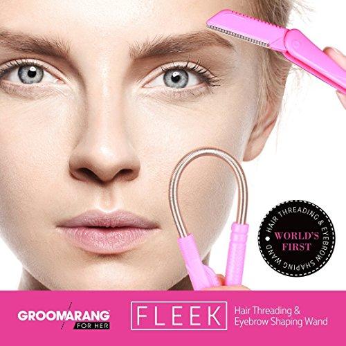 Groomarang Fleek Gesichtshaarentfernung für Frauen - Epistick + Rasierklinge zum stylen der Augenbrauen