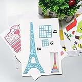 3D Pen Stencils,Papier Stencils/ 20 Seiten Verschiedene Papier Patterns/ New Design Papier Formen für 3D Druck Feder,3D-Zeichnungs Feder und 3D Gekritzel Feder/ 3D-Modellbau Arts & Crafts Zeichnung/ Bunte 3D Druckmuster.