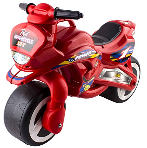 deAO Ride On Toddlers Balance Motorbike � Pedal Free Bike for Children in a Cool Red Design
