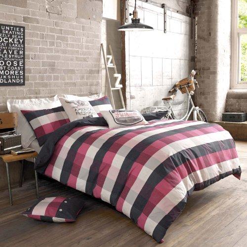 American Freshman Designer Anderson Marine/Cherry Panel Bettbezug, Einzelbett