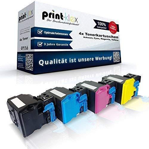 Color Konica-drucker Toner (4x Kompatible Tonerkartuschen für Konica Minolta Magicolor-4750-DN Magicolor-4750-EN - XXL Toner Patronen - Drucker Patronen)