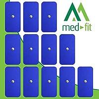 MED-FIT 5x10cm Flexi STIM 12 x 3.5mm Stud (tipo snap/boton) TENS Almohadillas autoadhesivas encajan con BEURER.