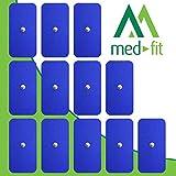 MED-FIT 5x10cm Flexi STIM 12 x 3.5mm Stud (tipo snap/boton) TENS Almohadillas autoadhesivas encajan con BEURER, SANITAS y VIRTUALMENTE todas las Maquinas de masaje TENS en Amazon