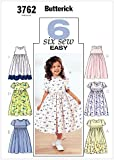 Butterick Patterns B3762 Size 2-3-4-5 Childrens/ Girls Dress, Pack of 1, White