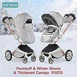 Hot Mom Winter Kit für Hot Mom Kinderwagen Model F023-2018 inkl. Handschuhe, Fußsack, Winter...