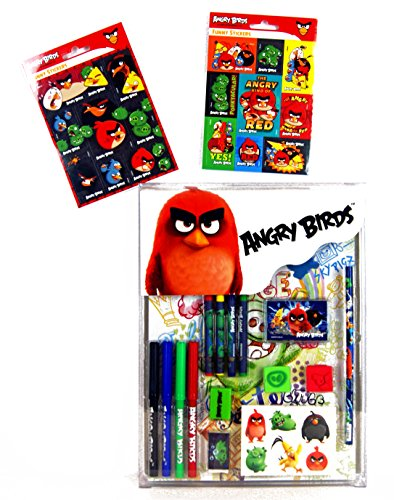 Angry Birds–Super and Writing Stationery Set 17Piece Set–16Pieces/16Stickers