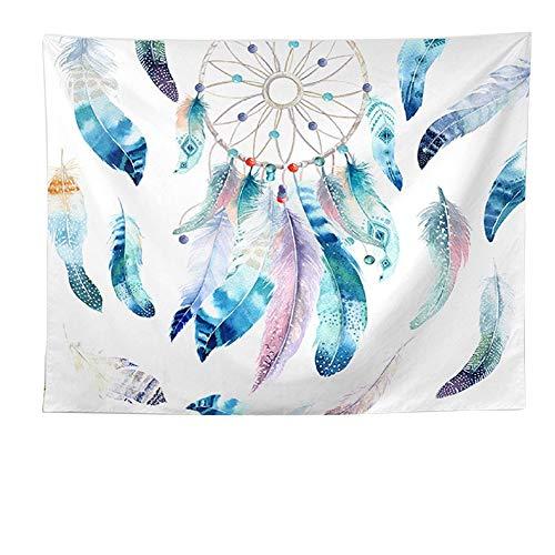 QEES - Tapiz colgante de pared con plumas en atrapasueños, para colgar en la pared, diseño de plumas tribales americanas para decoración del hogar, dormitorio, sala de estar, decoración GT46, poliéster, Style 3, 150x130 CM