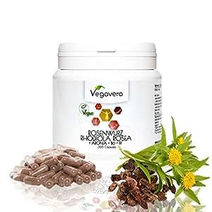 RHODIOLA Rosea Vegavero   ESTRATTO 5:1 standardizzato con Aronia, Vitamina B1 e B6   Stanchezza Fisica e Mentale – Stress - Buonumore – Insonnia – Ansia -   Senza Magnesio Stearato   365 capsule   Vegano e Naturale