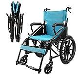 QNJM Silla De Ruedas Autopropulsada con Freno De Mano De Bloqueo - Silla De Ruedas Plegable para El Transporte - para Personas Mayores/Pacientes/Discapacitados