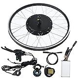 Jacksking Kit di conversione Bici elettrica, Kit di conversione e-Bike Mountain Bike con Motore 48V 1500W Ruota 20 Pollici KT-LCD5 Metro, Kit di conversione Mountain Bike(#1)