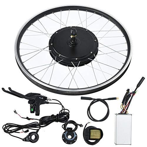 Jacksking Mountainbike Umbausatz, Mountainbike E-Bike Umbausatz mit 48V 1500W Motor 26 Zoll Rad KT-LCD5 Meter, Mountainbike Motor Kit(#1)