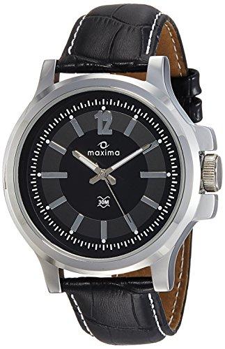 Maxima Analog Black Dial Men's Watch - 41912LMGI image