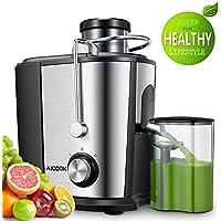 Entsafter, Aicook 65MM Breit Mund Edelstahl Entsafter Gemüse und Obst, Anti-Tropf-Funktion, BPA-frei, Rutschfeste Füße, Anti-Oxidation Saftmaschine mit Zwei Geschwindigkeiten
