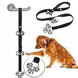 Doublehero Hund Töpfchen Tür Bells Einstellbare Dog Bells für Topf Pet Türklingel Länge Verstellbar mit Puppy Training (Schwarz)