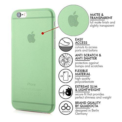 "QUADOCTA iPhone 6 PLUS (5,5"") Ultra Slim Case - Schutzhülle - ""Tenuis"" in Blau - Ultra dünne iPhone Hülle - Leicht transparentes Case Grün"