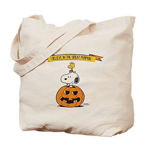 CafePress Peanuts Believe Great Pumpkin Tragetasche, canvas, khaki, M