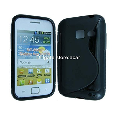 Samsung Galaxy Ace Duos Back Cover ,[GT-S6802] S-Line Black Soft Silicon Back Cover Case  available at amazon for Rs.179