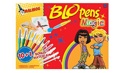 Preisvergleich Produktbild Malinos 300964 - Blopens Magic, 10 + 1 Pustestifte Set