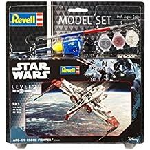 Revell Maqueta de Star Wars Arc de 170Fighter en escala 1: Niveles 83, 3, réplica exacta con muchos detalles, Model Juego con base accesorios, fácil pegar y para pintarlas, 63608