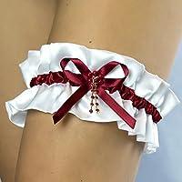 Giarrettiera di satin nozze matrimonio sposa biancheria intima regali de nozze bianco